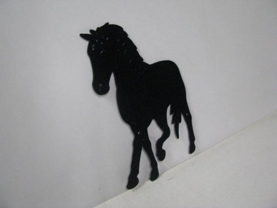 Horse 206 Large Walking Farm Metal Art Silhouette
