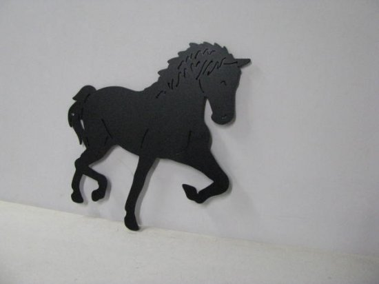 Horse 209 Large Walking Farm Metal Art Silhouette