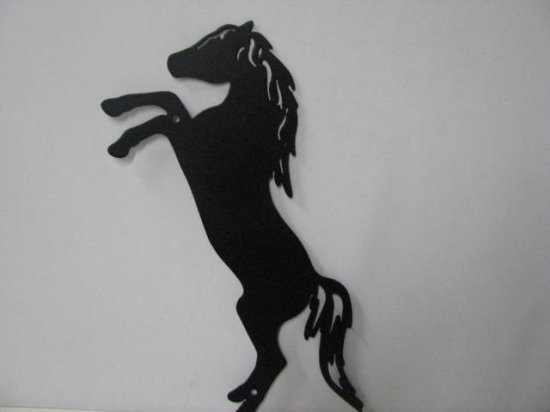 Arabian 003 Large Jumping Farm Metal Art Silhouette