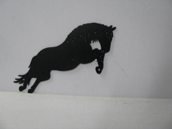 Horse 030 Large Jumping Farm Metal Art Silhouette