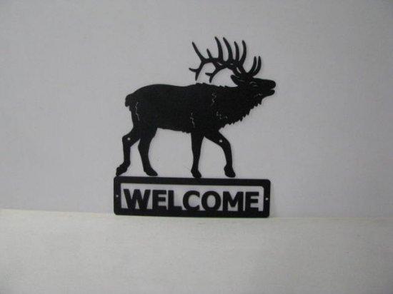 Elk 0007 Walking Welcome Sign Wall Art