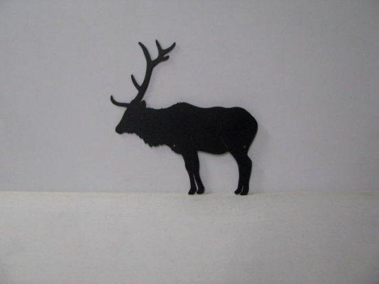 Elk 001A Large Standing Rustic Wildlife Metal Art Silhouette