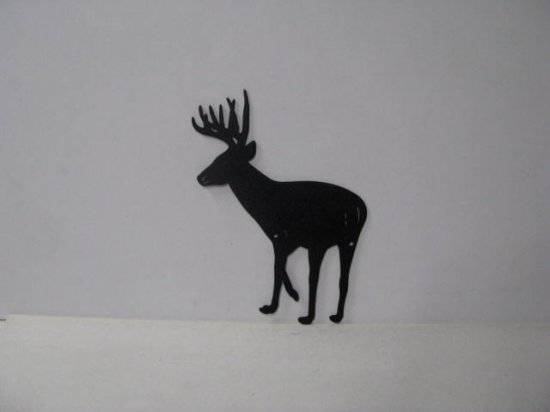 Buck 036 Large Standing Wildlife Rustic Metal Art Silhouette