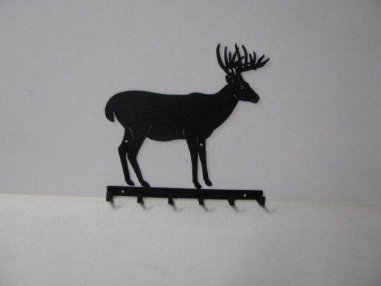 Buck 037 Standing 6 Hook Key Holder Metal Art