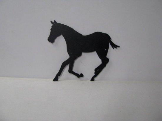Colt 001 Large Running Farm Metal Art Silhouette