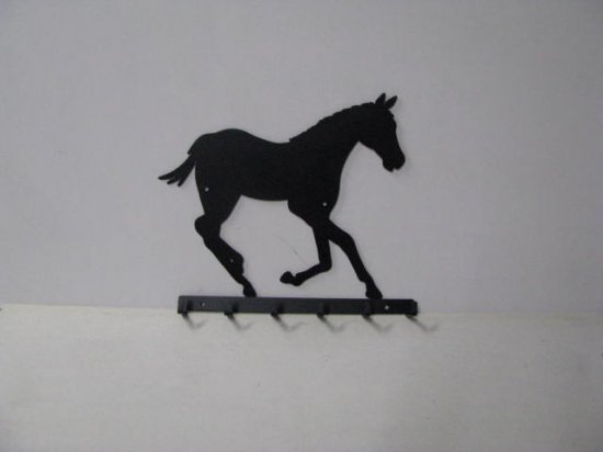 Colt 001 Running 6 Hook Key Holder Metal Silhouette