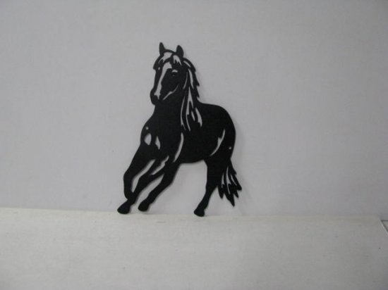 Horse 087 Large Running Farm Metal Art Silhouette