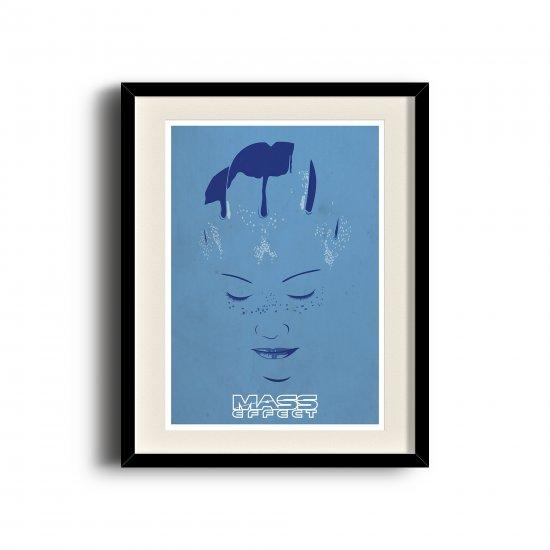 Liara Tsoni, Mass Effect minimalist poster, Mass Effect digital art poster
