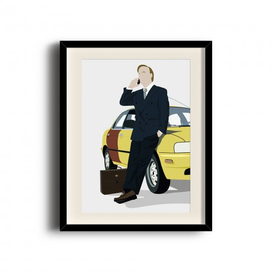 Better Call Saul, Saul Goodman minimalist poster, Better Call Saul digital art poster
