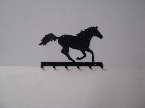 Thoroughbred 002 Running 6 Hook Coat Rack Silhouette