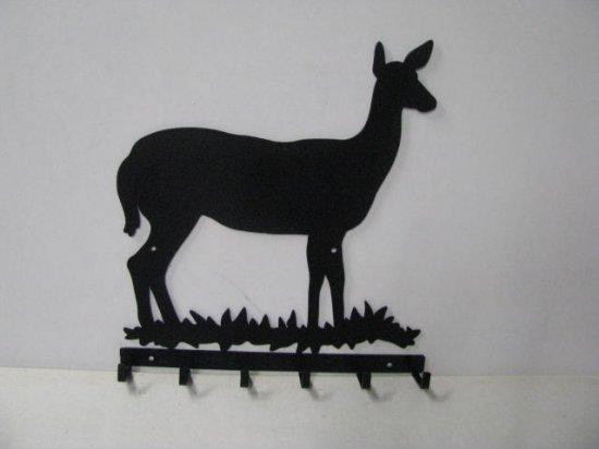 Deer Doe 003 6 Hook Key Holder Silhouette