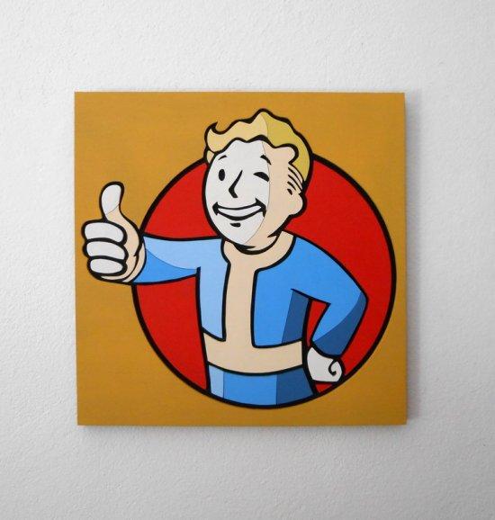 Handmade Vault boy, Fallout wall piece