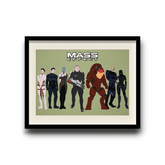 Mass Effect minimalist poster, Mass Effect digital art poster