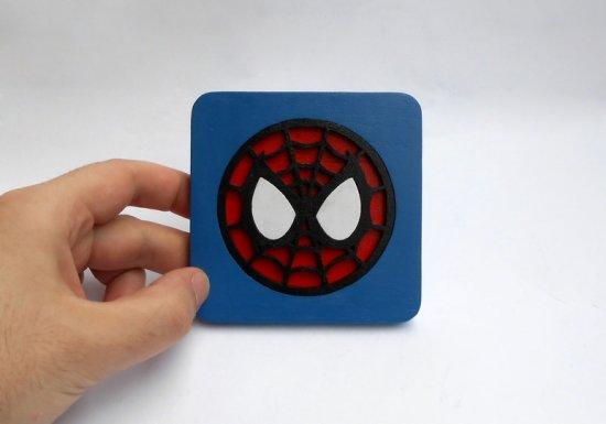 Handmade Spider-Man coaster