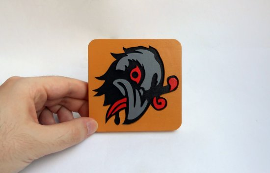 Handmade Murder of Crows Bioshock Infinite Vigor coaster