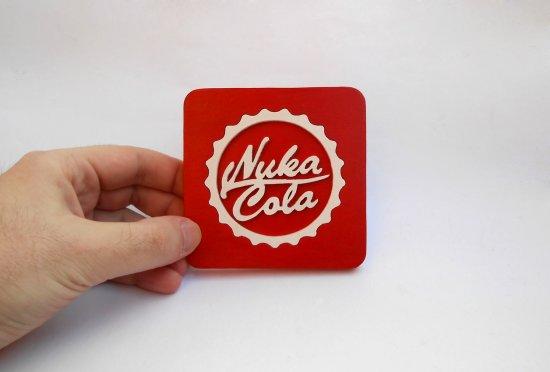 Handmade Nuka Cola, Fallout coaster