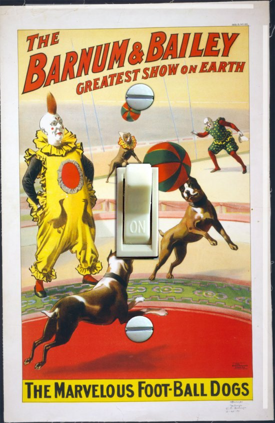 Vintage Barnum & Bailey Circus Poster Switch Plate (Single)