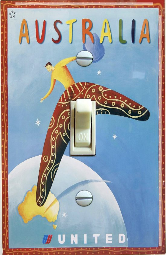 Australia United Airlines Vintage Travel Poster (Single)