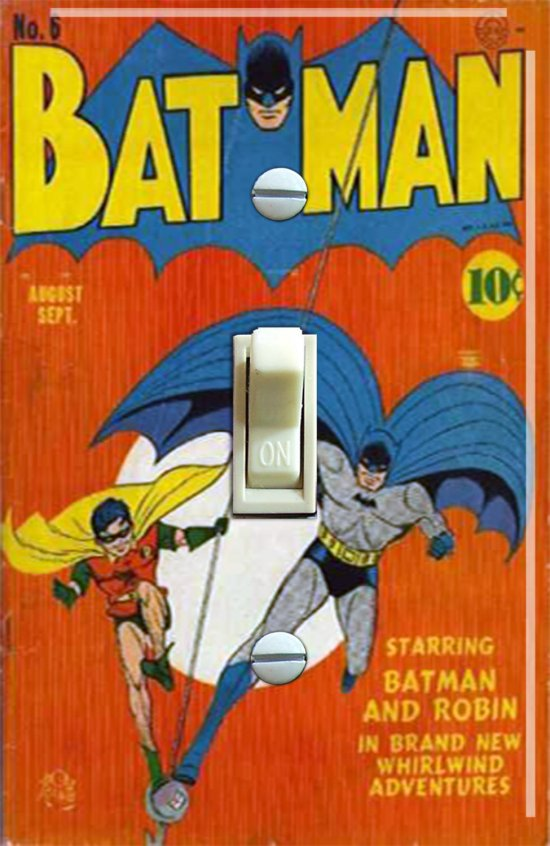 Vintage Batman #6 1941 Comic Switch Plate (Single)