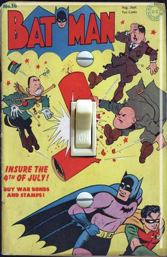 Vintage Batman #18 1943 Comic Switch Plate (Single)