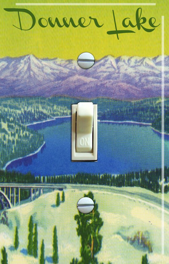 DONNER LAKE Vintage Poster Switch Plate (single)