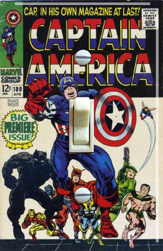 Vintage Captain America #100 1968 Switch Plate (Single)