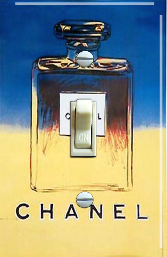 Vintage Channel No. 5 Switch Plate (Single)