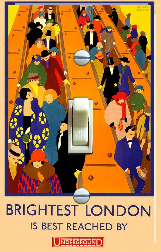BRIGHTEST LONDON Vintage Switch Plate (single)