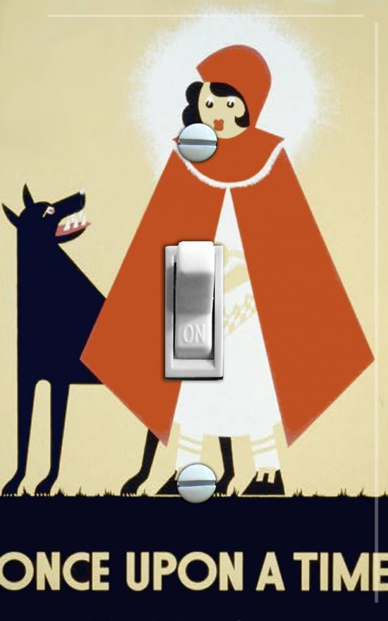 LITTLE RED Riding Hood Vintage Poster Switch Plate (single)