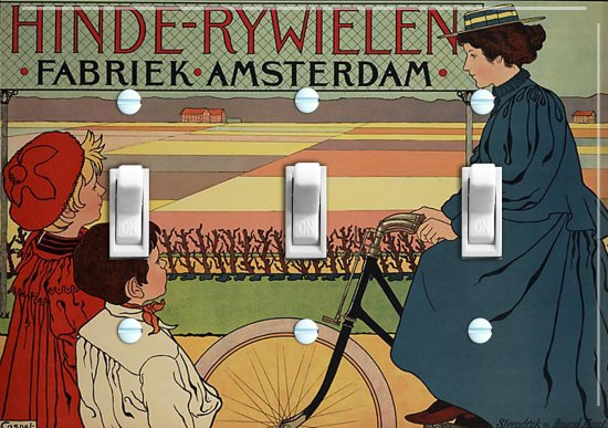AMSTERDAM BIKE Switch Plate (triple)