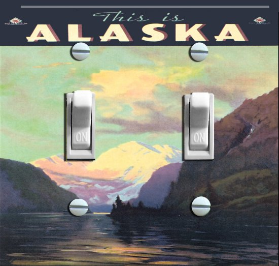 This Is ALASKA vintage poster Switch Plate (double)