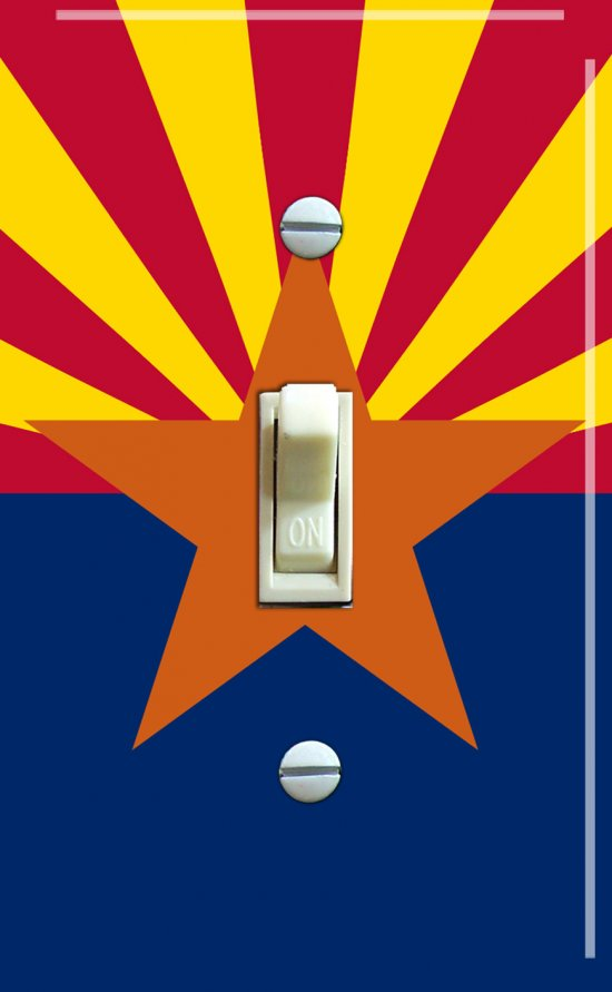 ARIZONA State Flag Single Switch Plate
