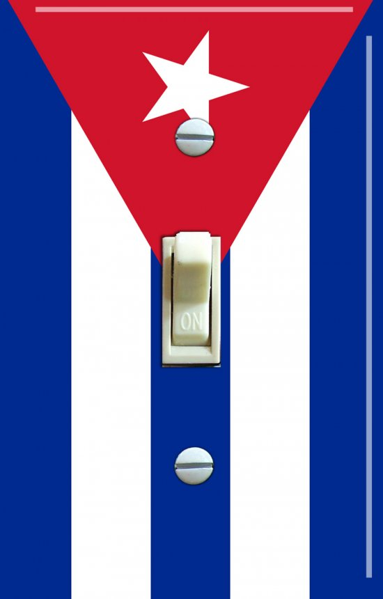 CUBA Flag Single Switch Plate