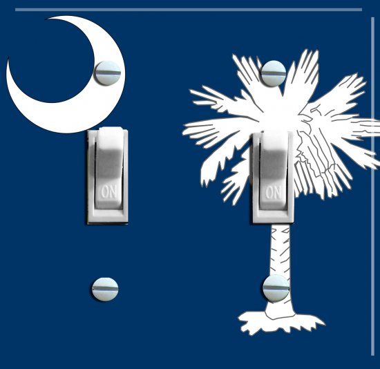 SOUTH CAROLINA State FLAG Double Switch Plate