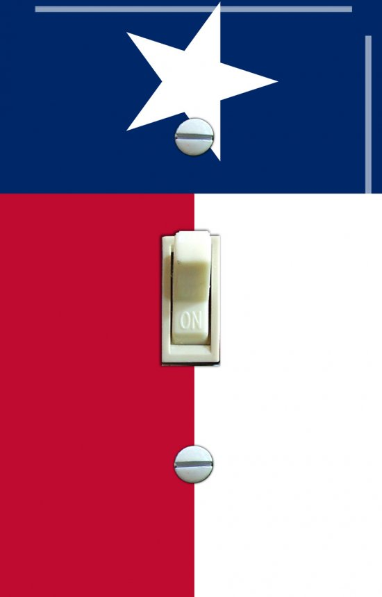 TEXAS State FLAG Single Switch Plate