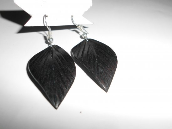 5 Vintage Wood earrings Black wood for women earrings dangle sun earrings,wooden earrings for women, boho earrings, gift  hippie