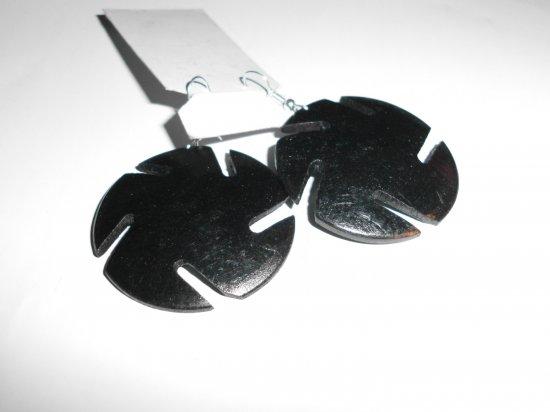 6 Vintage Wood earrings Black wood for women earrings dangle sun earrings,wooden earrings for women, boho earrings, gift  hippie
