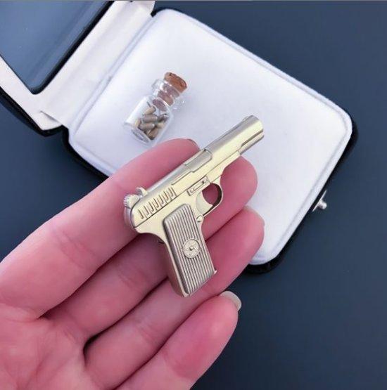 2mm pinfire TT pistol full metal version