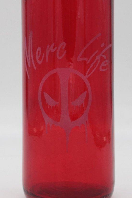 Deadpool Etched 750ml Wine Bottle Merc Life