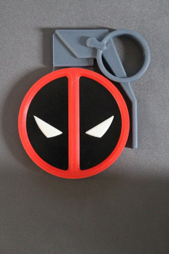 Deadpool Logo Grenade Magnet 3D