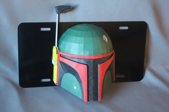 The Mandalorian Star Wars Boba Fett Vanity License Plate