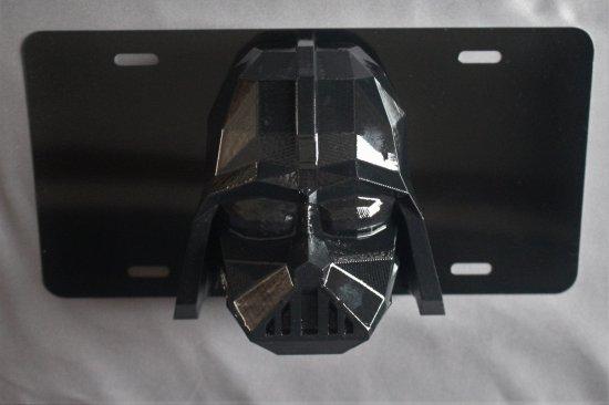 Star Wars Darth Vader  License Plate 3D Low Poly