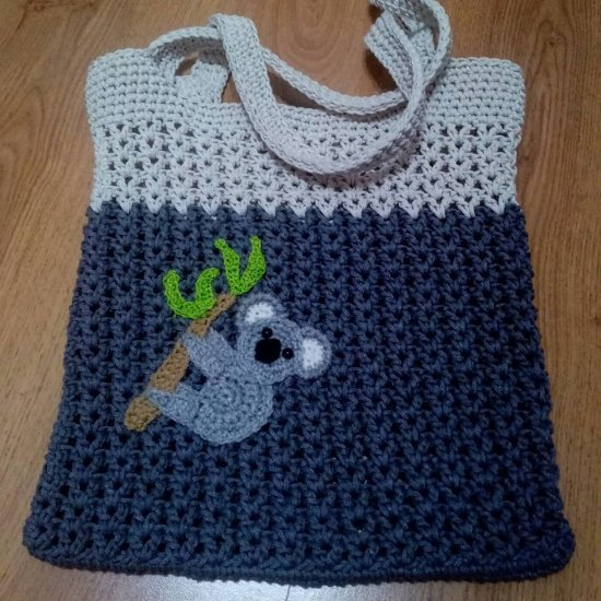 "handmade shopping bag ""koala"""