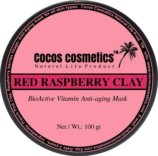 Raspberry  Facial Mask, French Pink Clay facial antioxidant mask, skin whitening mask, vegan skin care, all skin types anti aging mask