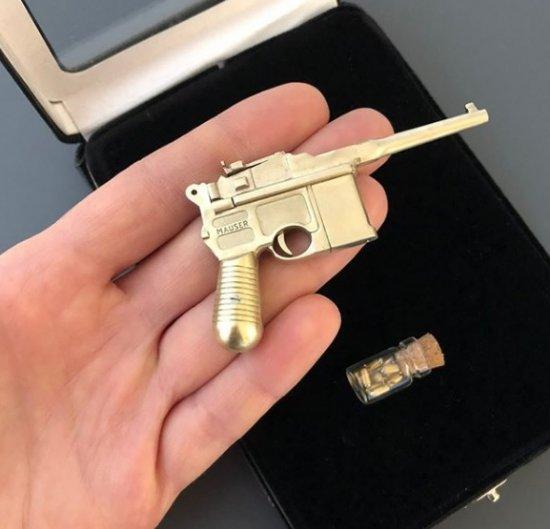 2mm pinfire gun Mauser C96 full metal version