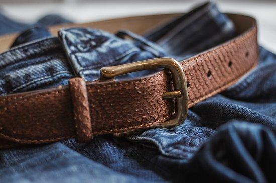 Handmade. Fish leather belt. Anniversary gift. Gift for Dad. Gifts for boyfriend. Salmon skin. Prestigious gift. Belt for men. Brown belt.