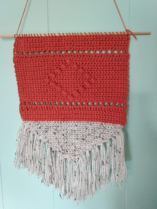 Modern Crochet Wall Hanging