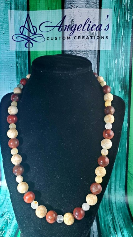 "20"" Natural Brown/Beige Necklace"