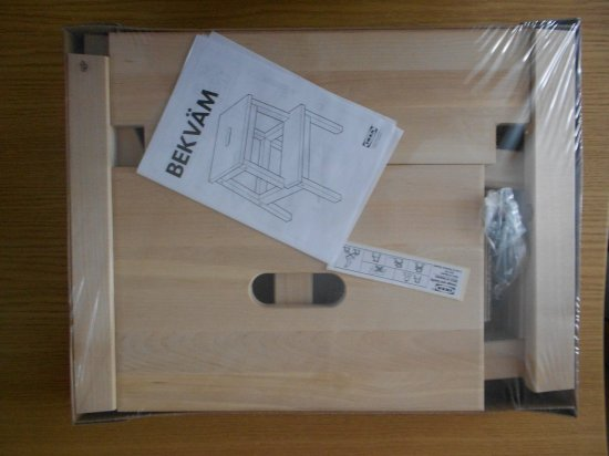 BEKVAM IKEA Wooden Step stool  / Sturdy Wood Ladders /  Home Shop Bar Kitchen Ladder