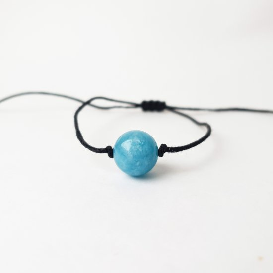 Aquamarine stone bracelet